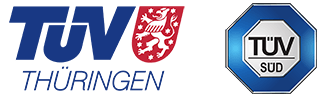 TUV Thuringen and TUV SUD logos