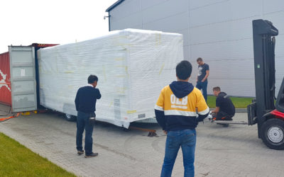 Twin mobile LED screens shipped to Japan