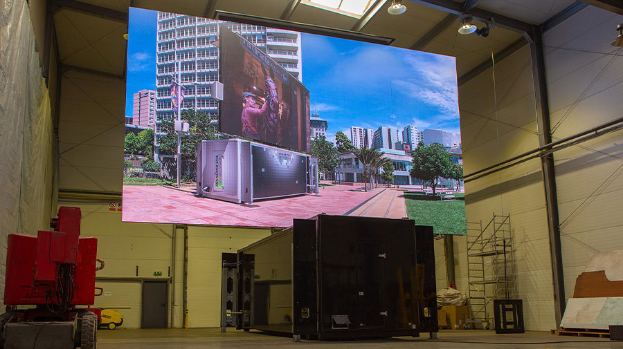 ContainerLED - 65 sqm LED screen in movable black container