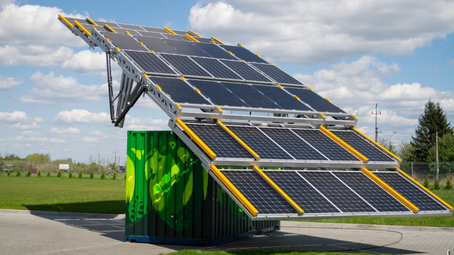 SunBOX 35A - solar container fully hydraulic controlled