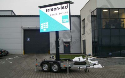 Mobile LED screens for digital advertising.