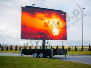PlatformLED led trailer with turned on screen