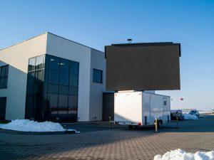 MobiLED screen trailer in winter