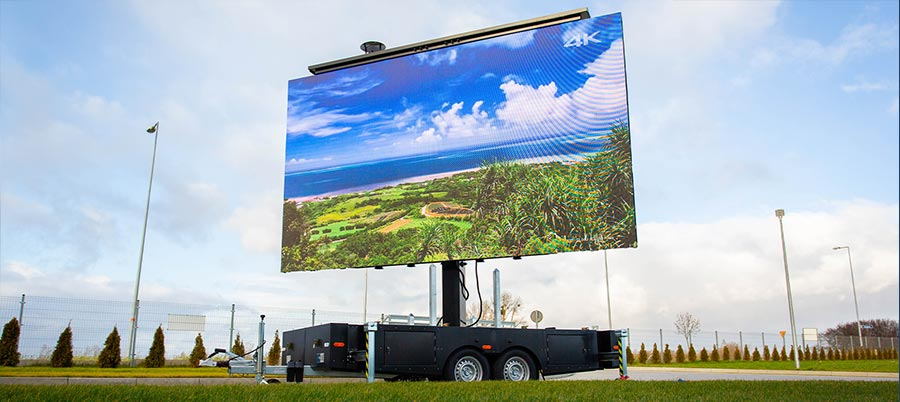 Screen-LED.com banner - ContainerLED with 42 sqm LED screen