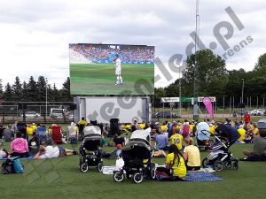 ContainerLED big mobile LED screen on a fanzone