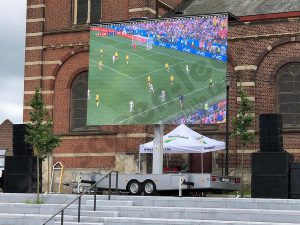 PlatformLED on a EURO 2016 fanzone