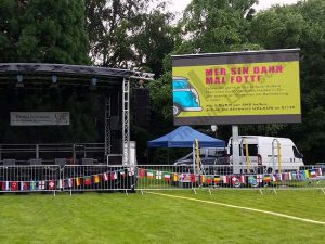 PlatformLED led screen trailer on a music event